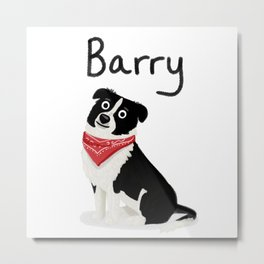 "Custom Cute Dog Art ""Barry"" Metal Print"