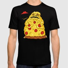 Pizza The Hutt Black MEDIUM Mens Fitted Tee