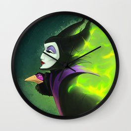 Maleficent - Burning Beauty Wall Clock