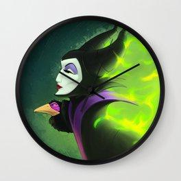 Maleficent - Burning Beauty Wall Clock