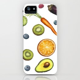 Fruits and vegetables iPhone Case
