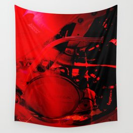 RED DIRTBIKE ENGINE Wall Tapestry