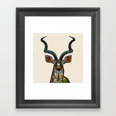 antelope ivory Framed Art Print