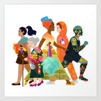 Walks of Life Art Print