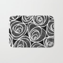 Midnight Roses Bath Mat