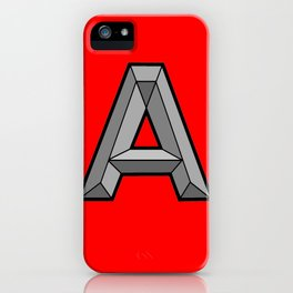Silver A iPhone Case