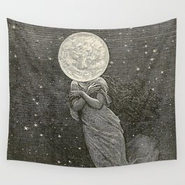 AROUND THE MOON - EMILE-ANTOINE BAYARD Wall Tapestry