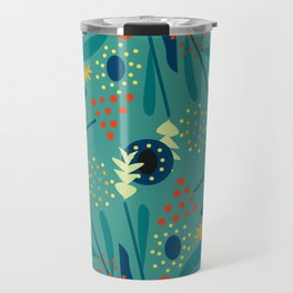 Floral dance in blue Travel Mug