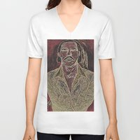 nick cave V-neck T-shirts featuring Cave by Alec Goss