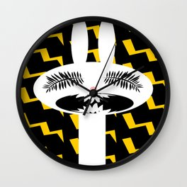 rabbit rage Wall Clock