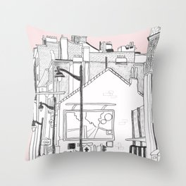 Architecture Mixes in Brussels Throw Pillow