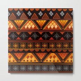 Boho Geometric Pattern Metal Print