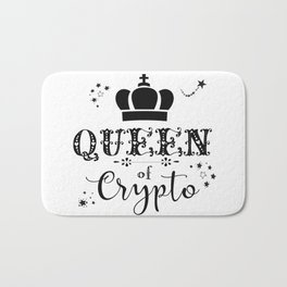 Queen of Crypto Bath Mat
