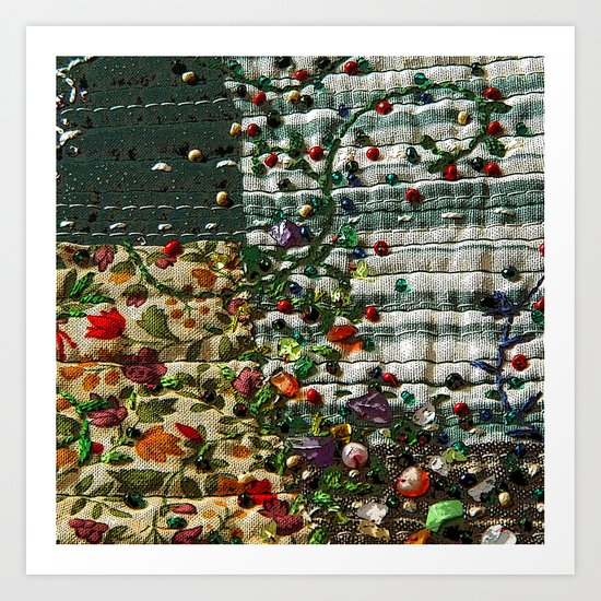 Abstract garden Art Print