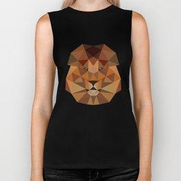 Lion head geometric polygon gift idea line hipster Biker Tank