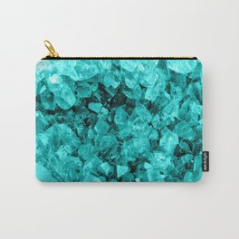 Sparkling Aqua Amethyst Carry-All Pouch
