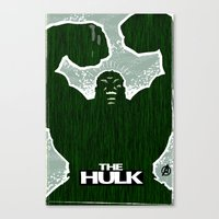 hulk Canvas Prints featuring Hulk by Duke Dastardly
