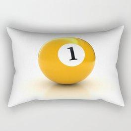 yellow pool billiard ball number 1 one Rectangular Pillow
