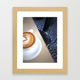 Blue Caffeine  Framed Art Print