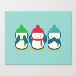 No Evil In Holiday Canvas Print