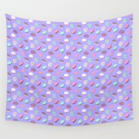 donuts Wall Tapestries featuring Donuts by heymonster