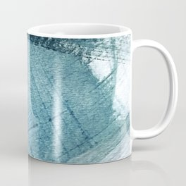 Pacific: a minimal abstract mixed media piece in blues and white Coffee Mug