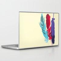 indie Laptop & iPad Skins featuring Indie Feathers  by Minette Wasserman