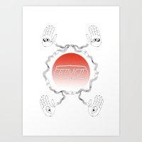 bond Art Prints featuring bond by Yukaco Tanaka