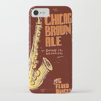 ale giorgini iPhone & iPod Cases featuring Chicago Brown Ale by Moto