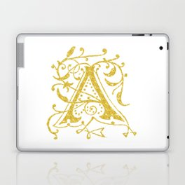 Gold Foil Letter A Laptop & iPad Skin