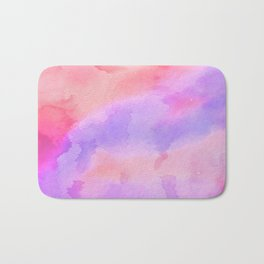 Hand painted pink violet coral abstract watercolor pattern Bath Mat