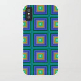 Vibrant Gridwork iPhone Case