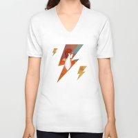 david bowie V-neck T-shirts featuring Bowie by David van der Veen