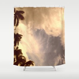 palm isles sky Shower Curtain