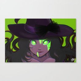 Toxic Witch (Original) Canvas Print