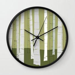 Quiet Birches Wall Clock