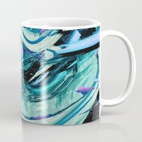outer space Mugs featuring outer space by blackarts