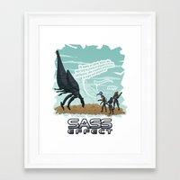 mass effect Framed Art Prints featuring Mass Effect - Sass Effect by calicoJill