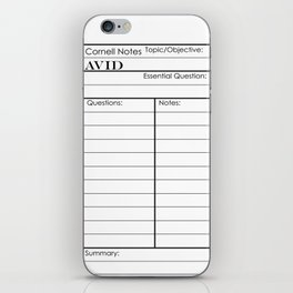 Cornell Notes iPhone Skin