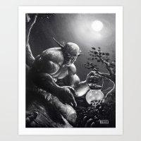 fireflies Art Prints featuring Fireflies by Art by Justin