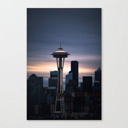 Space Needle Sunset - Seattle Nights Canvas Print