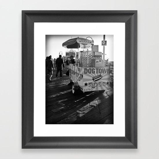 Dogtown Dogs Framed Art Print