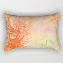 Phoenix, mysterious birds, parrots Rectangular Pillow