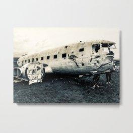 Icelandic Plane Metal Print