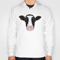 cow Hoodies featuring Cow by Compassion Collective