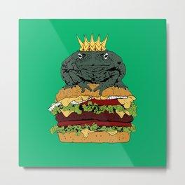 King of Burgers Green Metal Print