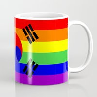 korea Mugs featuring south korea gay flag by tony tudor