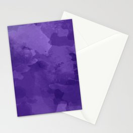 amethyst watercolor abstract Stationery Cards