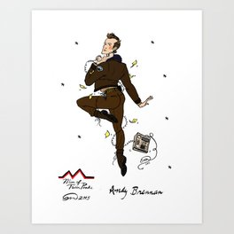Deputy Andy Brennan Pin-up Art Print