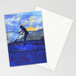 Scooter Sunset Stationery Cards